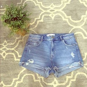 Zara Light Wash Denim Shorts
